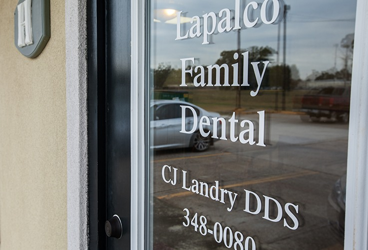 Front door of Lapalco Family Dental