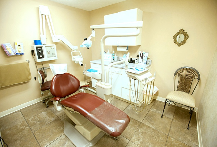 State of the art dental patient exam room