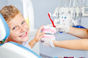 child getting dental checkup